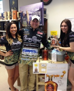 Dusty and the Crown Royal Blended Whisky girls in Nisswa.