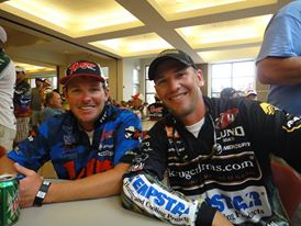 Gussy with friend and fellow pro-angler, Blake Nick at the rules meeting.